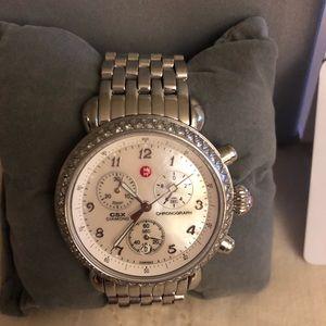 Michele Jetway watch with diamond bezel